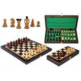 Шахматы 3112 MEDIUM KINGS, коричневые 36x18x5см (король-60мм)