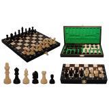Шахматы 3154 Школьные, коричневые 27x13,5x4см (король-55мм)