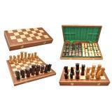 Шахматы 3116 ORAWA Intarsia, коричневые 49x24,5x6,5см (король-125мм)