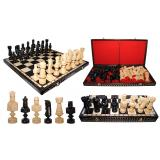 Шахматы 3102 LARGE CEZAR, коричневые 82x41x8,5см (король-215мм)