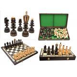 Шахматы 3131 ROMAN коричневые 52,5x26,5x6см (король-160мм)