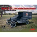 ICM 35665 Американский санитарный автомобиль модель T 1917, I Мировая война
