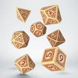 Набор кубиков Viking Beige & burgundy Dice Set