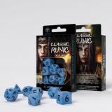 Набор кубиков Classic Runic Glacier & black Dice Set