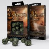 Набор кубиков Steampunk Black & glow-in-the-dark Dice Set
