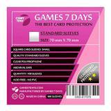 Протекторы для карт Games7Days (70 х 70 мм, Square Small, 100 шт.) (STANDART)