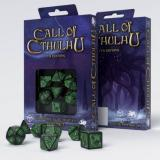 Набор кубиков Call of Cthulhu 7th Edition Black & green Dice Set