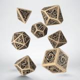 Набор кубиков Celtic 3D Revised Beige & black Dice Set