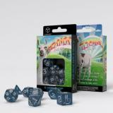 Набор кубиков Shimmering Llama Dice Set (Glittering dark blue & white)