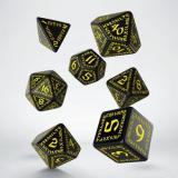 Набор кубиков Runic Black & yellow Dice Set