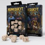 Набор кубиков RuneQuest Beige & burgundy Dice Set