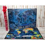 Морская скретч карта мира My Map Discovery edition ENG в наборе для любимого человека In Love