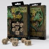 Набор кубиков Celtic 3D Revised Beige & black Dice Set