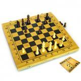 Нарды+шахматы из бамбука (29,5х29х2,5 см)(B3015)