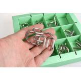 Зеленый Набор   10 Metal Puzzle Green