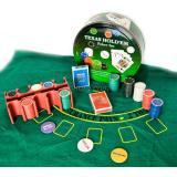 Покерный набор (2 колоды карт,200 фишек,сукно)(d-25,h-9 см)(TC04150A), арт.23717