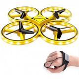 FireFly Drone / RC ZF04 Yellow – ударостойкий дрон с сенсорным управлением, защита от столкновений CBGames