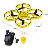 FireFly Drone / RC ZF04 Yellow – ударостойкий дрон с сенсорным управлением, защита от столкновений + БАТАРЕЙКИ В ПОДАРОК