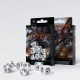 Набор кубиков Dragons White & black Dice Set