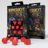 Набор кубиков RuneQuest Red & gold Dice Set