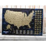 Скретч карта Соединенных Штатов Америки My Map USA edition в тубусе