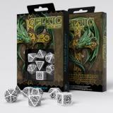 Набор кубиков Celtic 3D Revised White & black Dice Set