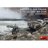 MRT 35272 Советский грузовик Газ-ААА с 76-мм дивизионной пушкой (УСВ-БР)
