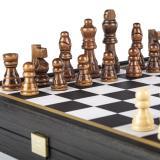 CBLS34BLA Шахматы нарды Manopoulos 4 в 1 комбинированная игра в дерев. фут.венге -