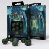 Набор кубиков Call of Cthulhu Black & green Dice Set