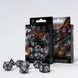 Набор кубиков Dragons Black & white Dice Set