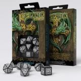 Набор кубиков Celtic 3D Revised Black & white Dice Set