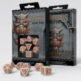 Набор кубиков Dwarven Beige & burgundy Dice Set