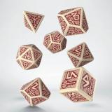 Набор кубиков Dwarven Beige & burgundy Dice Set