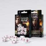 Набор кубиков Classic Runic White & red Dice Set