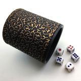 Стакан для кубиков с золотыми узорами + ПОДАРОК