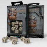 Набор кубиков Dwarven Beige & black Dice Set