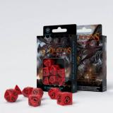 Набор кубиков Dragons Red & black Dice Set