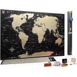 Скретч карта мира My Map Black Gold Edition ENG