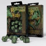 Набор кубиков Celtic 3D Revised Black & green Dice Set