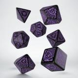 Набор кубиков COC Horror on the Orient Express Black & purple Dice Set