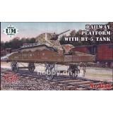 UM 643 Железнодорожная платформа с танком БТ-5