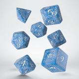 Набор кубиков Elvish Glacier & white Dice Set