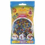 Термомозаика HAMA Набор цветных бусин, 1.000 шт, 6 полупрозрачных цветов, MIDI 5+