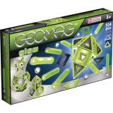 Geomag Glow 104 детали | Светящийся магнитный конструктор Геомаг