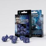 Набор кубиков Classic RPG Cobalt & white Dice Set