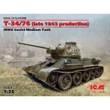 Средний танк Т-34/76 (производства конца 1943 г.) (ICM 35366)