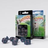 Набор кубиков Sparkling Llama Dice Set (Glittering dark blue & pink)