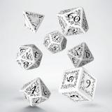 Набор кубиков Elvish White & black Dice Set