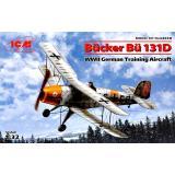 Германский учебный самолет Bucker Bu 131D, 2МВ (ICM 32030)