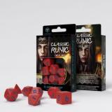 Набор кубиков Classic Runic Red & blue Dice Set